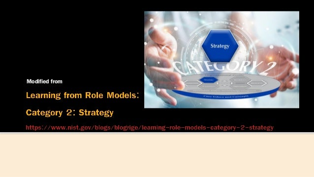 Strategy from role models Slide 2