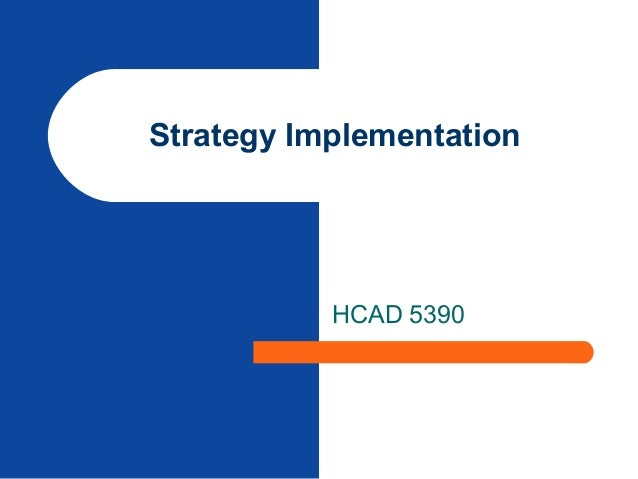 Strategy Implementation HCAD 5390