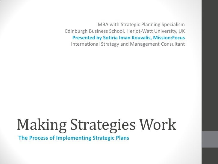 MBA with Strategic Planning Specialism                  Edinburgh Business School, Heriot-Watt University, UK             ...