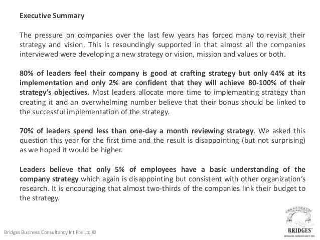 Strategy Implementation Survey Results 2012 Slide 3
