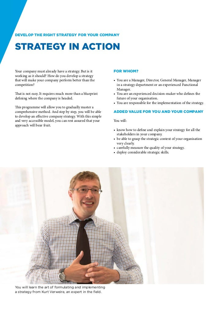Develop the right strategy for your companyStrategy in ActionYour company must already have a strategy. But is it         ...