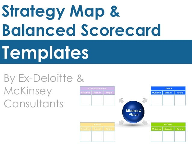 Strategy Map Amp Balanced Scorecard Templates By Ex
