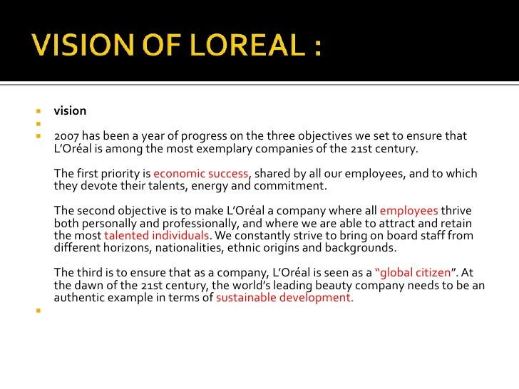 l oreal stakeholders L'oreal has created an international l'oréal internal and external influences print expectations and needs of the stakeholders and therefore policies are.