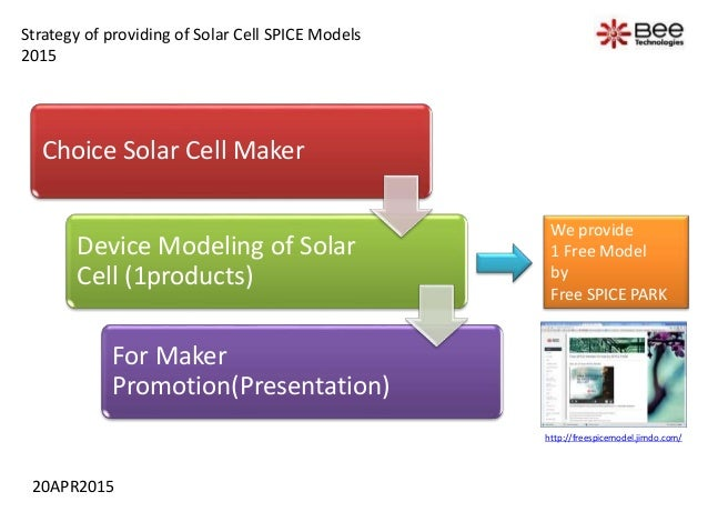 Choice Solar Cell Maker Device Modeling of Solar Cell (1products) For Maker Promotion(Presentation) We provide 1 Free Mode...