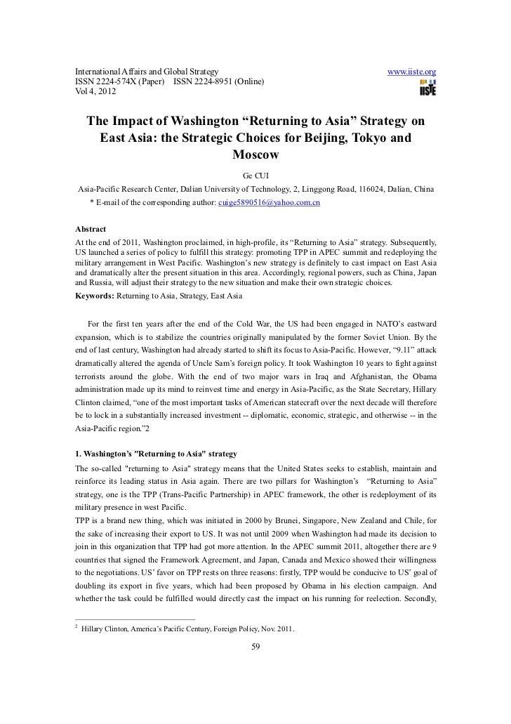 International Affairs and Global Strategy                                                     www.iiste.orgISSN 2224-574X ...
