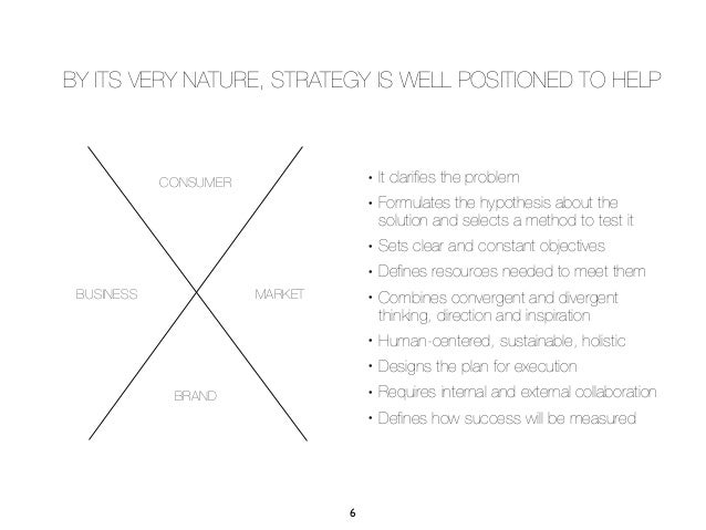 BY ITS VERY NATURE, STRATEGY IS WELL POSITIONED TO HELP            CONSUMER                                    •   It clar...