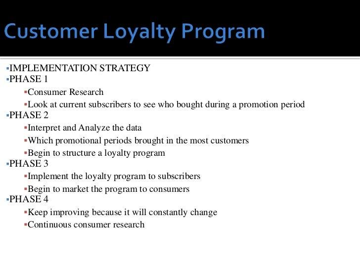Loyalty program swot analysis