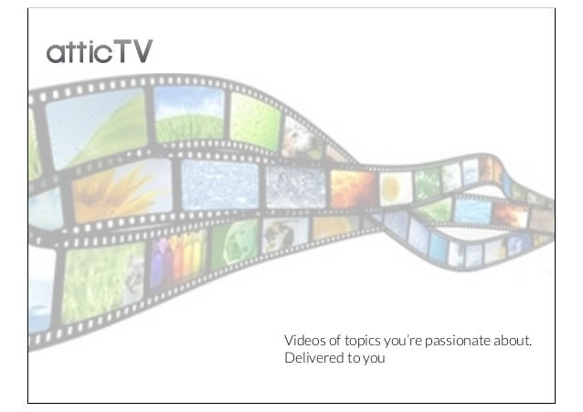 Videos of topics you're passionate about.Delivered to you