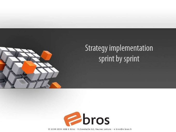 Strategy implementationsprint by sprint<br />