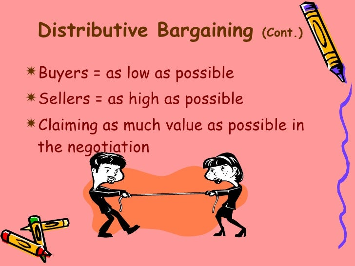 distributive negotiation strategy Chapter 2 - strategy and tactics of distributive bargaining - download as word doc (doc), pdf file (pdf), text file (txt) or read online mor 469.