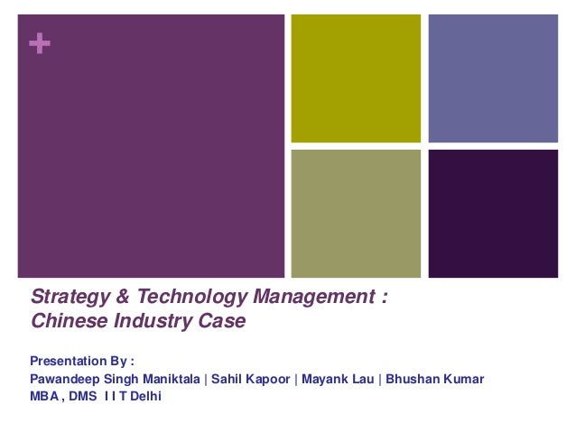 Case study in business policy and strategic management