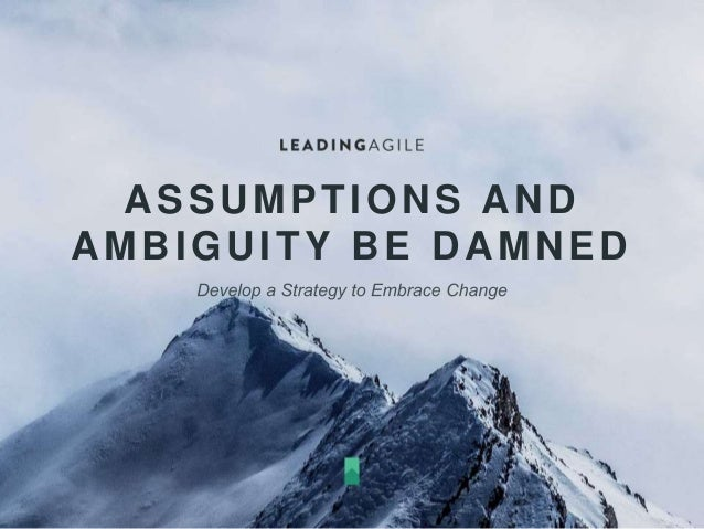 ASSUMPTIONS AND AMBIGUITY BE DAMNED