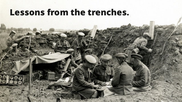 20 Lessons From The Trenches (Global Blue Experience Report) Lessons from the trenches.