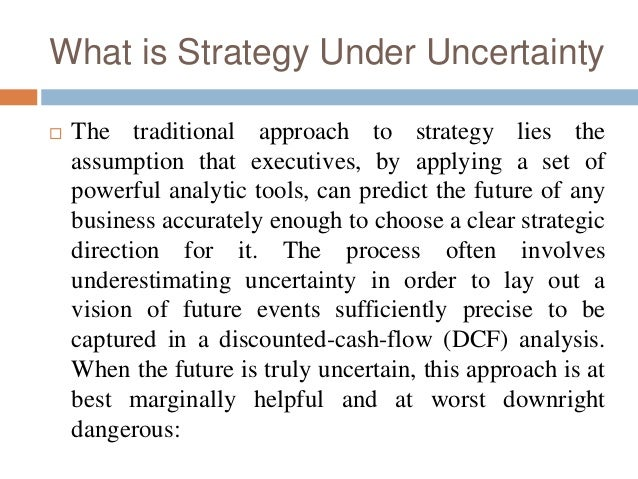 strategy under uncertainty Retailer pricing strategy and consumer choice under price uncertainty shai danziger liat hadar vicki g morwitz.