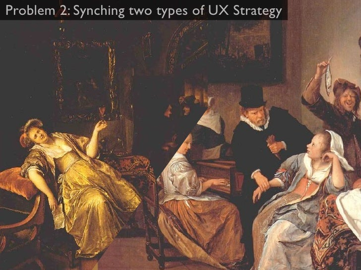Problem 2: Synching two types of UX Strategy    1. Product Strategy                                 2. Process Strategy