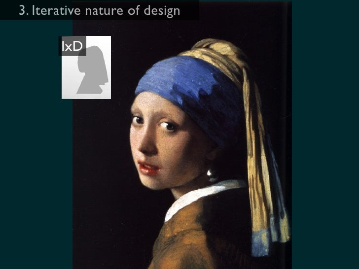 3. Iterative nature of design         IxD                      IA