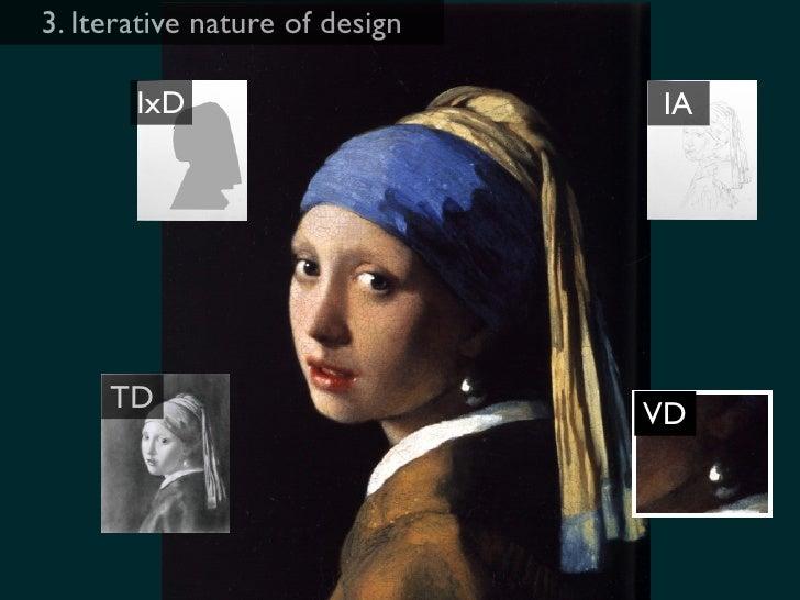 3. Iterative nature of design         IxD                                      IA          TD                             ...