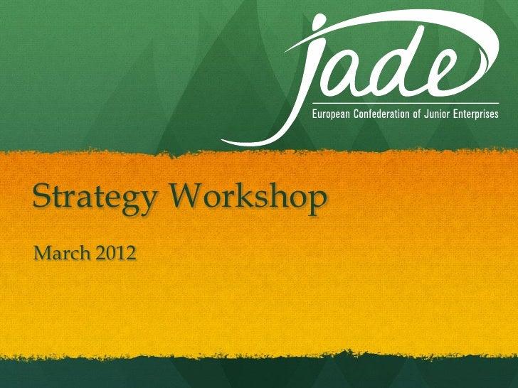 Strategy WorkshopMarch 2012