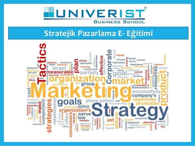 Stratejik Pazarlama E- Eğitimi