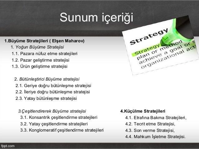 Buyume ve Rekabet Stratejileri Slide 2