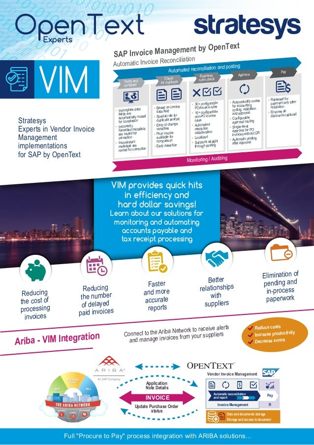 Stratesys OpenText Solutions VIM USA - Opentext vendor invoice management