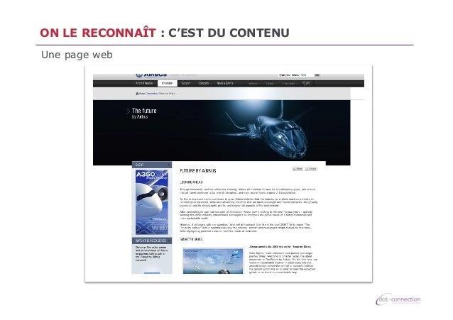 ON LE RECONNAÎT : C'EST DU CONTENU Une page web