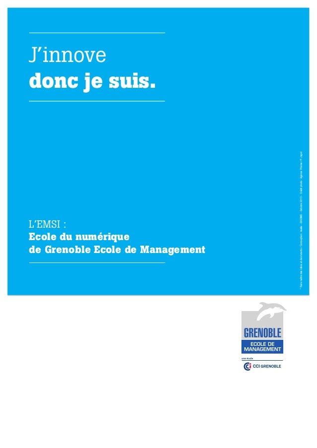 L'EMSI : Ecole du numérique de Grenoble Ecole de Management  Inspiring ideas and talent * MANAGEMENT, TECHNOLOGIE & INNOVA...
