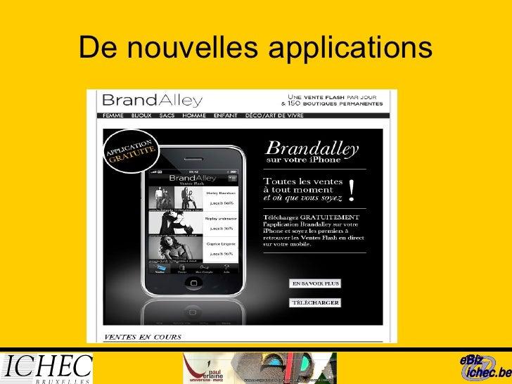 De nouvelles applications