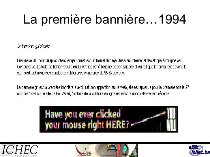 La première bannière…1994
