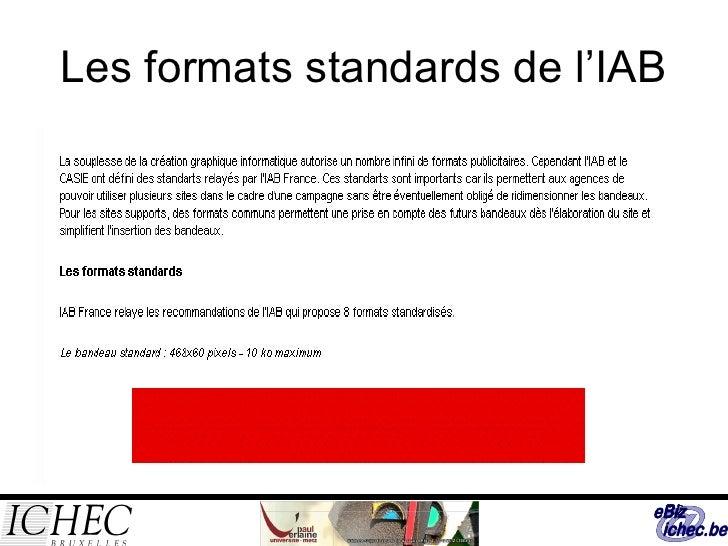 Les formats standards de l'IAB
