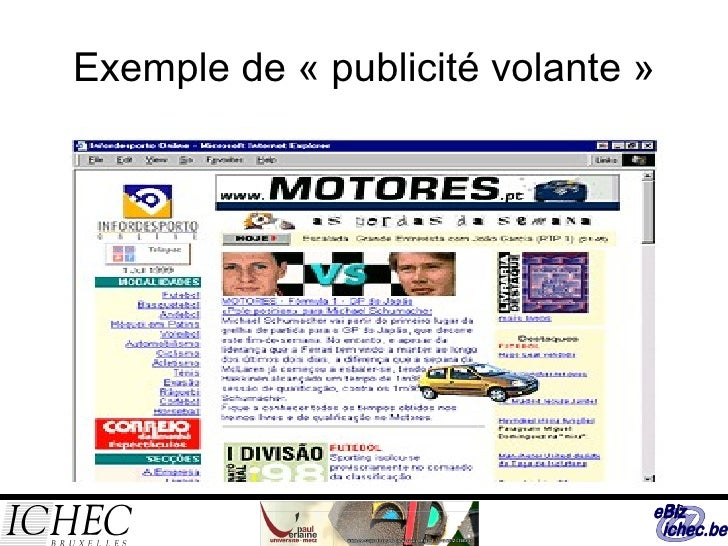 Exemple de «publicité volante»