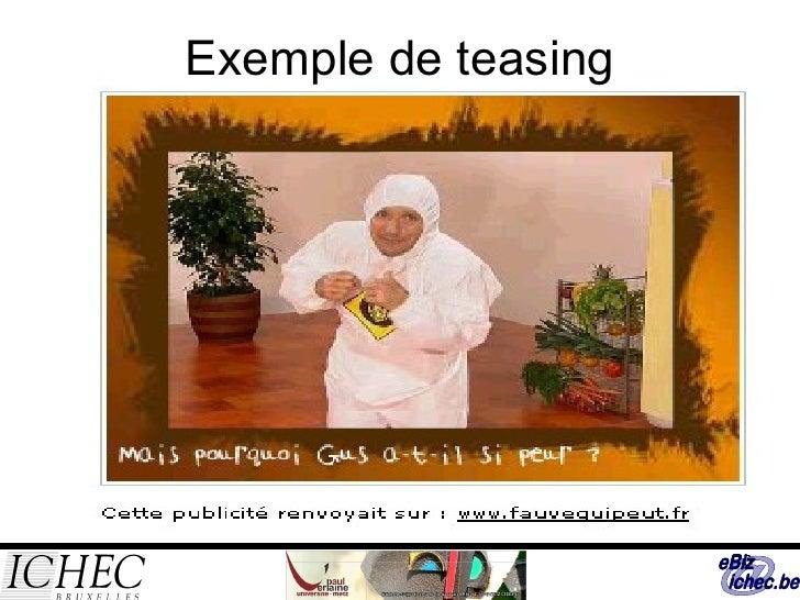 Exemple de teasing