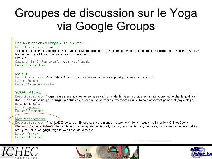 Groupes de discussion sur le Yoga via Google Groups