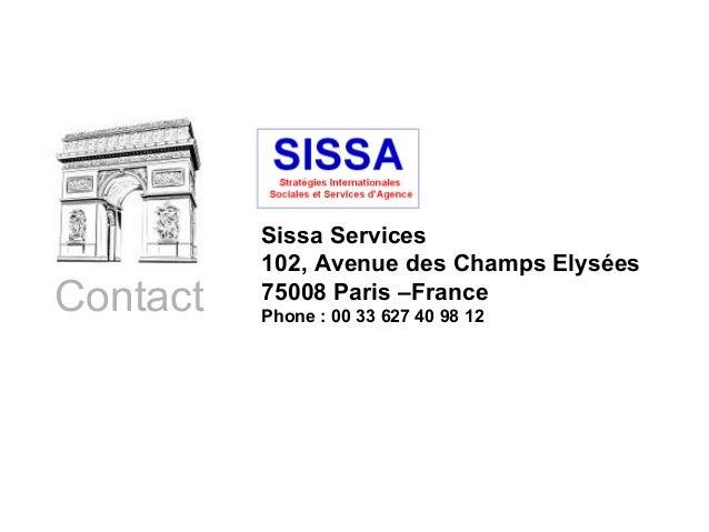 SISSA : Stratégies internationales, sociales et services d'agence digitale et de relations publiques Slide 3