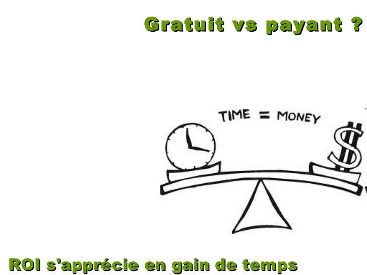 Gratuit vs payant ? ROI s'apprécie en gain de temps