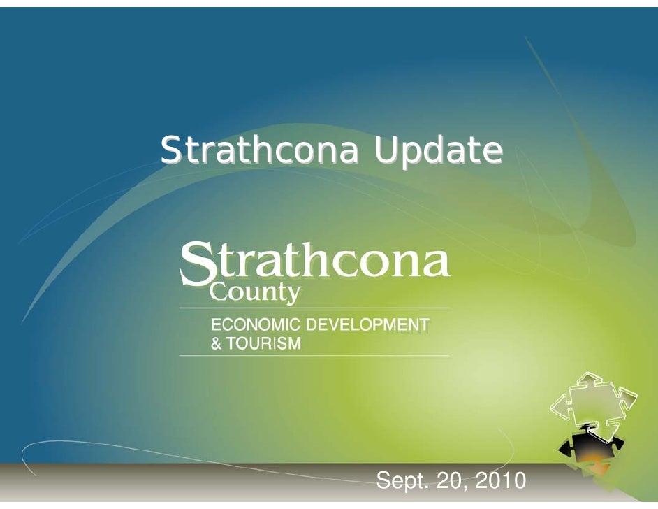 Strathcona Update               Sept. 20, 2010