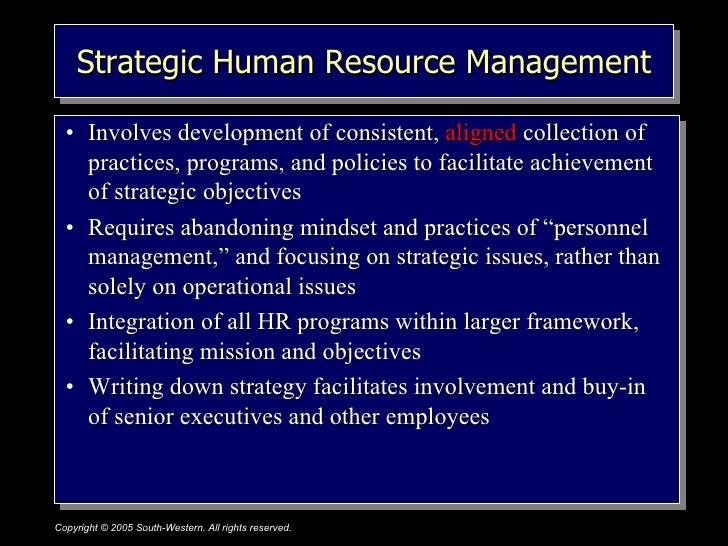 hrm strategy Human resource management (hrm) has frequently been described as a concept with two distinct forms: soft and hard the soft model emphasizes individuals and their self-direction and places commitment, trust, and self-regulated behaviour at the centre of any strategic approach to people.