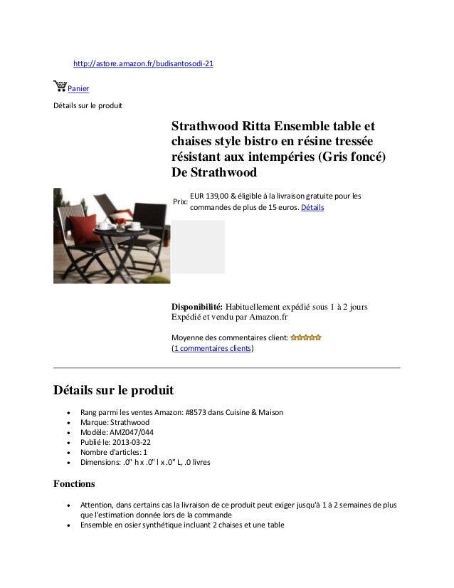 http://astore.amazon.fr/budisantosodi-21PanierDétails sur le produitStrathwood Ritta Ensemble table etchaises style bistro...