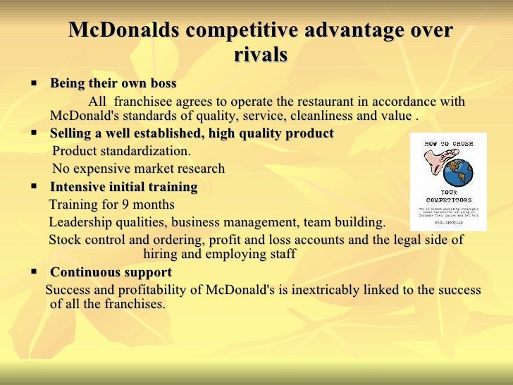 competitive advantage of restaurants The restaurant industry is highly competitive unless you have a star chef or a novel cuisine, chances are you will have trouble standing out from the crowd gaining a competitive edge requires a detailed analysis of the demographics of the surrounding area and the nature of existing competitors.
