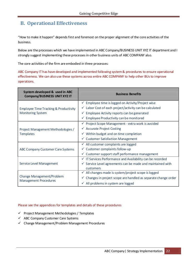 abc corp business process and strategy Strategic management test 1  the strategic management process is  business-level strategies are concerned specifically with:.