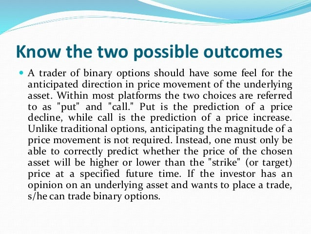 Hedging strategy binary options