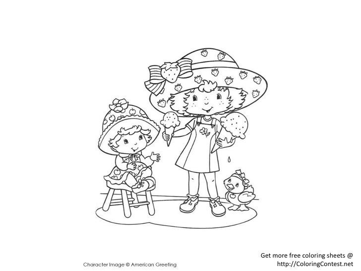 Free Strawberry Shortcake Coloring Book Pages, Download Free Clip ... | 546x728