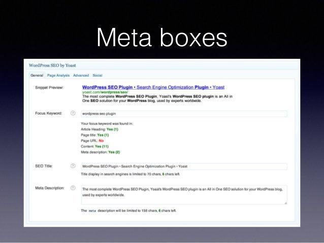 Meta boxes