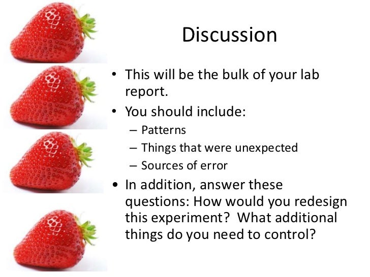 Strawberry DNA lab report