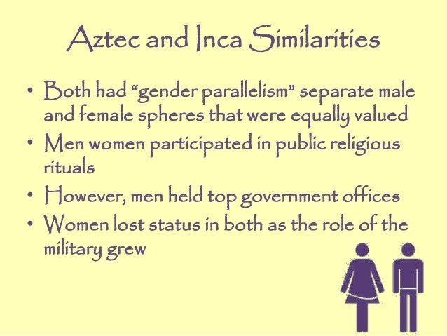 aztec and also inca similarities
