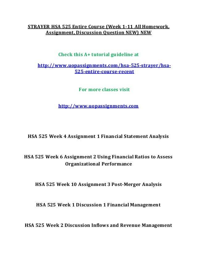 hsa 525 homework week 4