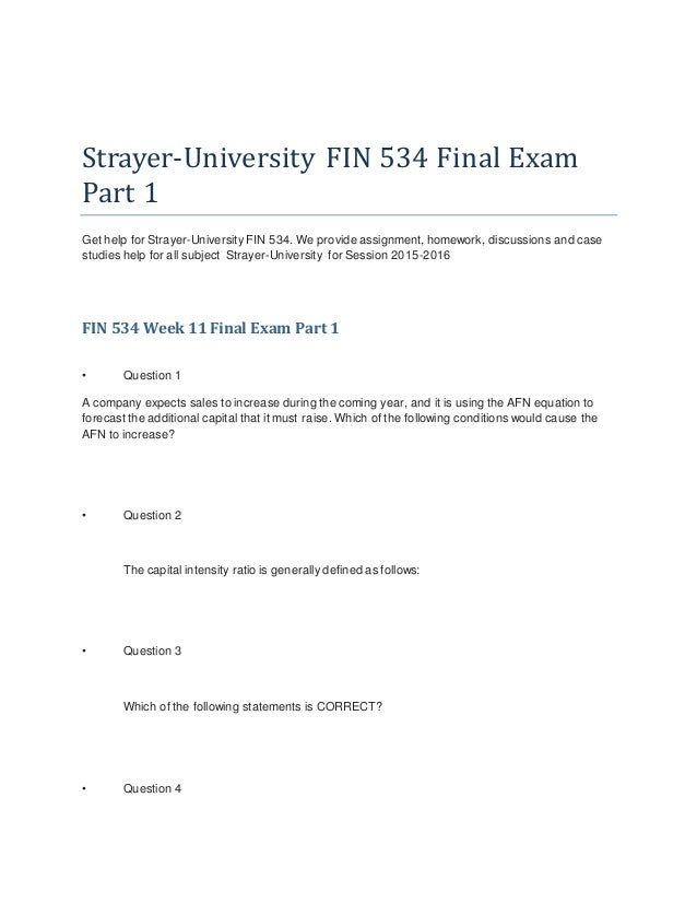 fin 534 chapter 12 answers Sebastien ndikum fin534 home work 12 1 which of the following statements is correct a perhaps the most important step when developing forecasted financial.