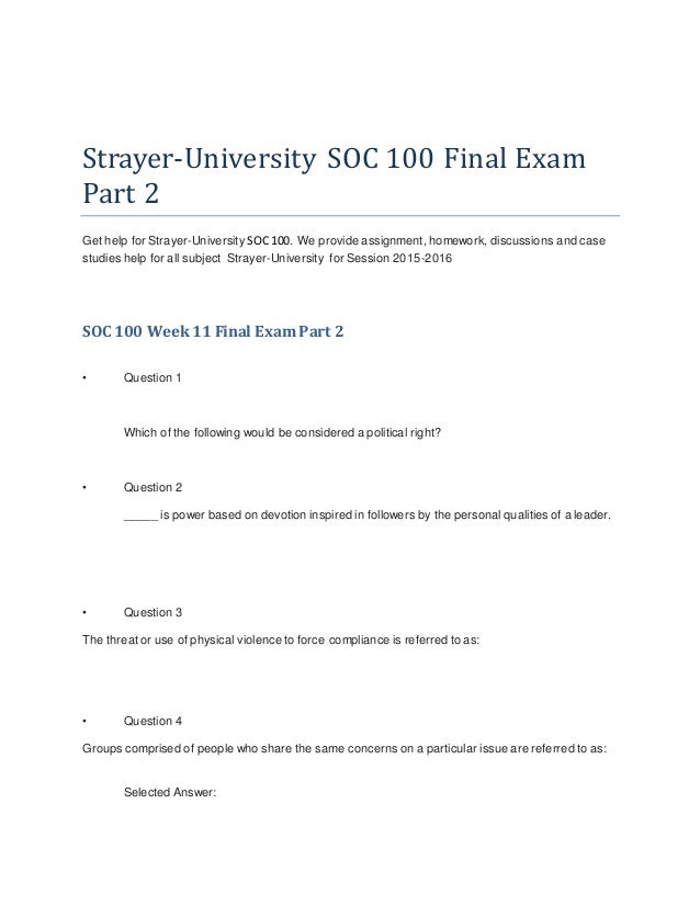 soc 100 strayer Soc 100 week 4 discussion deviance and social class, sociology homework help  soc 100 week 4 discussion deviance and social class  soc 100 soc 100 strayer.