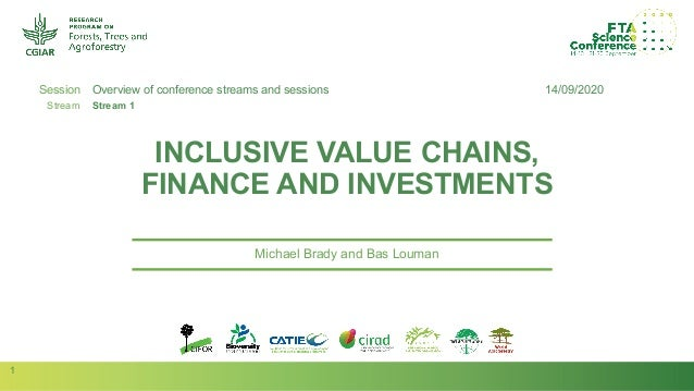 1 Session Stream Author(s): INCLUSIVE VALUE CHAINS, FINANCE AND INVESTMENTS Michael Brady and Bas Louman 14/09/2020Overvie...