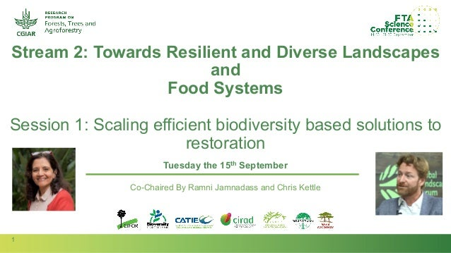 1 Session Stream Author(s): Stream 2: Towards Resilient and Diverse Landscapes and Food Systems Session 1: Scaling efficie...